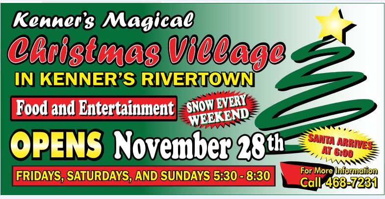 <p>Christmas Village begins on Saturday, Nov. 28 and continues each Friday, Saturday and Sunday through Dec. 20 in Rivertown</p>